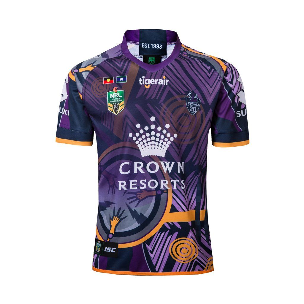 85fe9a329 Melbourne Storm RUGBY LEAGUE TEAM 2019 SHIRT JERSEY SPORT MENS BNWT Compression  Clothing, Kids Soccer
