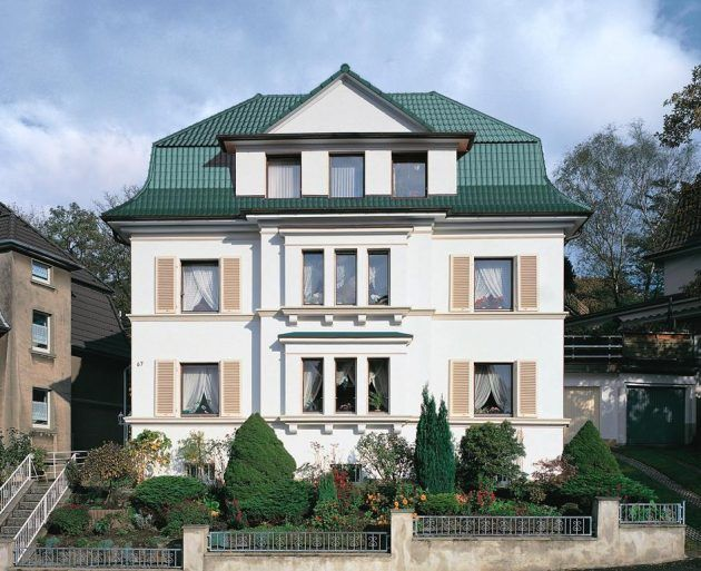 Ausgefallene Dachgestaltung *Ideen Zum Dachbau * Grüne Dachziegel Oder  Dachpfannen * Haus Im Landhausstil *