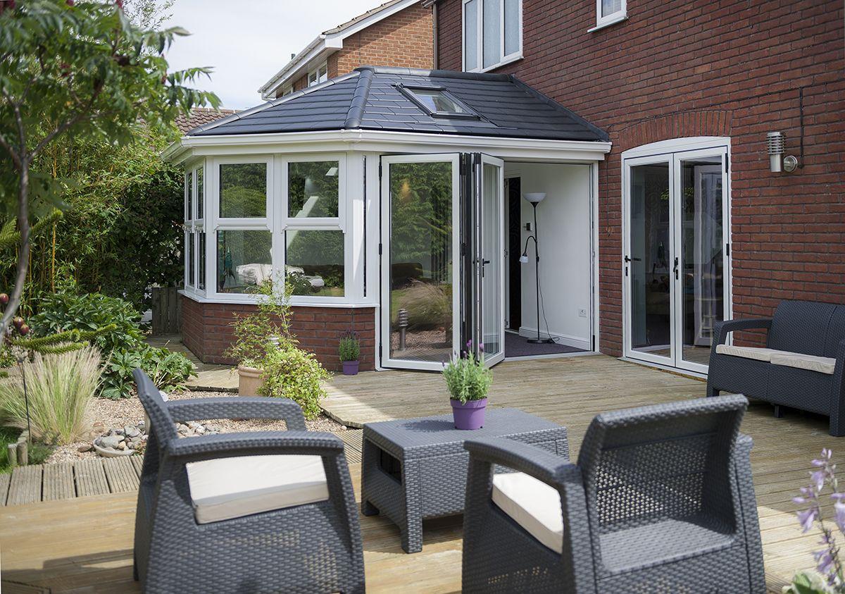 Warmcore homes aluminium bi folding doors available in pane