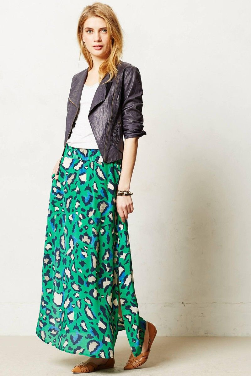 Anthropologie palme maxi skirt tickled my fancy pinterest