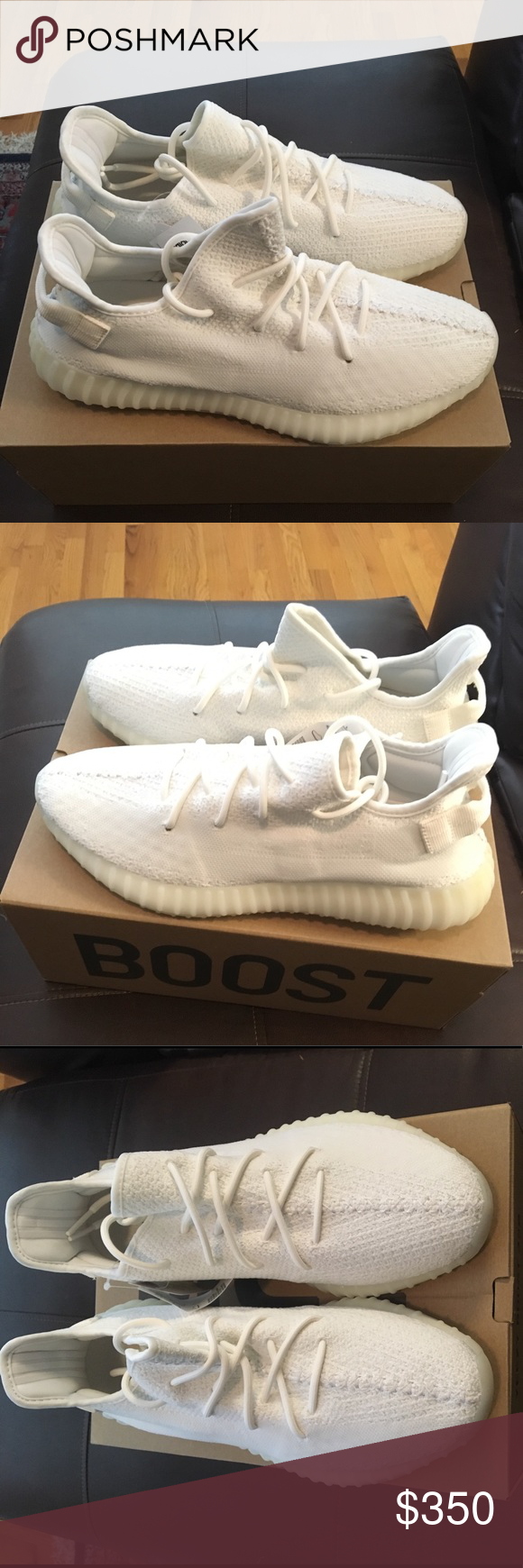 the best attitude 412c7 8906d Authentic Adidas Yeezy Boost 350 V2 Triple White New with ...