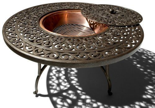 New Strathwood St Thomas Cast Aluminum Fire Pit With Table Ebay