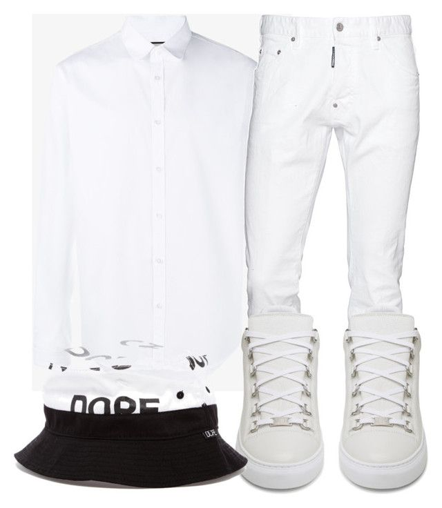 """Untitled #402"" by beautifully-ambitious on Polyvore featuring Gucci, Dsquared2, Balenciaga, Dope, men's fashion and menswear"