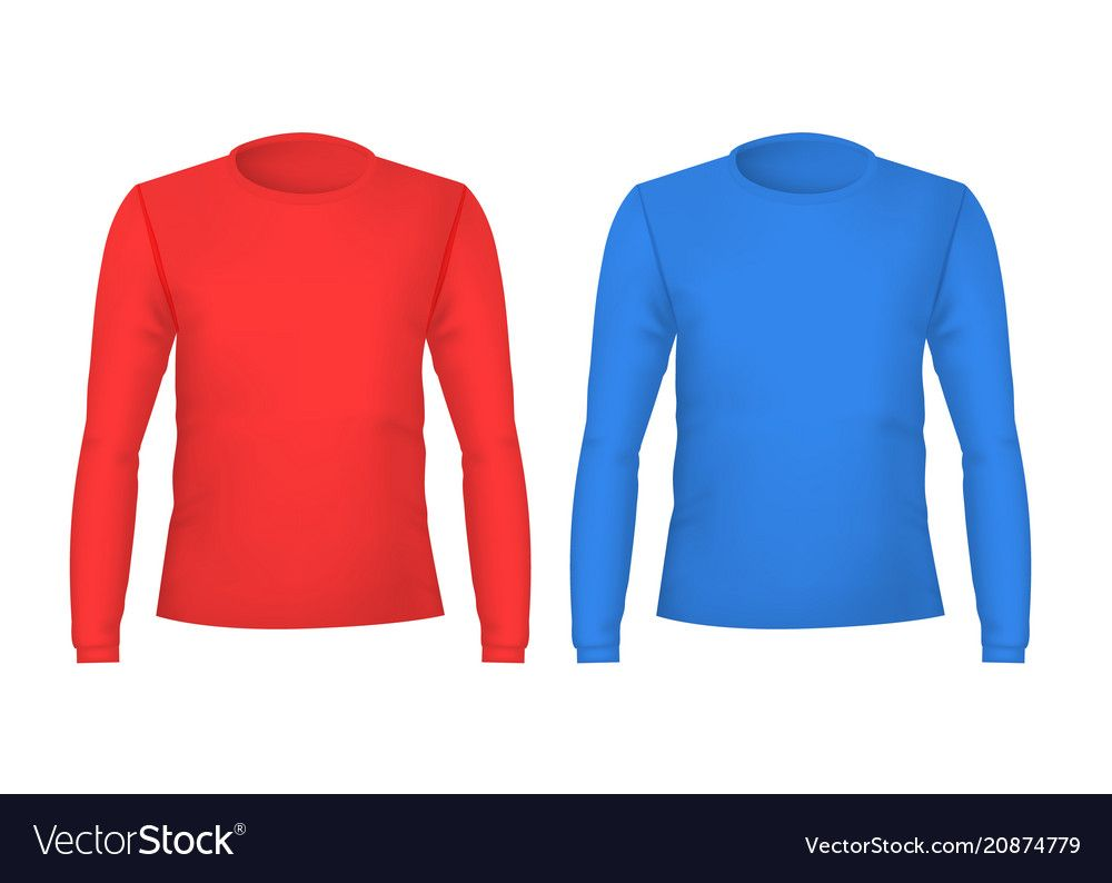 Download Realistic Detailed 3d Template Blank Color T Shirts For Man Front And Back Sides Vector Illustration Of Male T Shirt Downloa Color Male T Shirt Tshirt Colors
