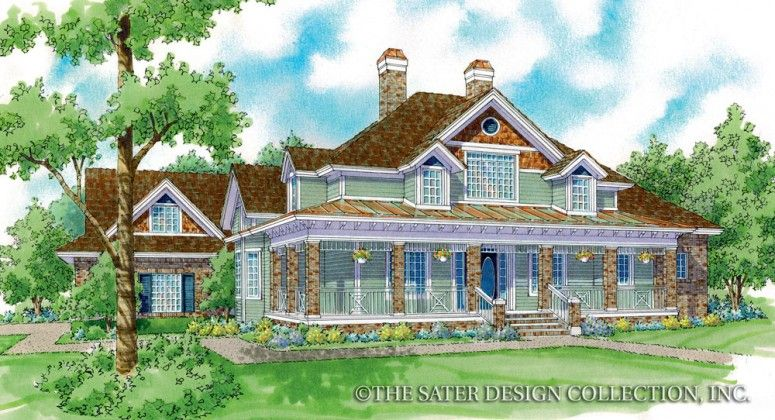 """Room to grow in the """"Monroe"""", large and lovely Craftsman style l Sater Design Collection"""