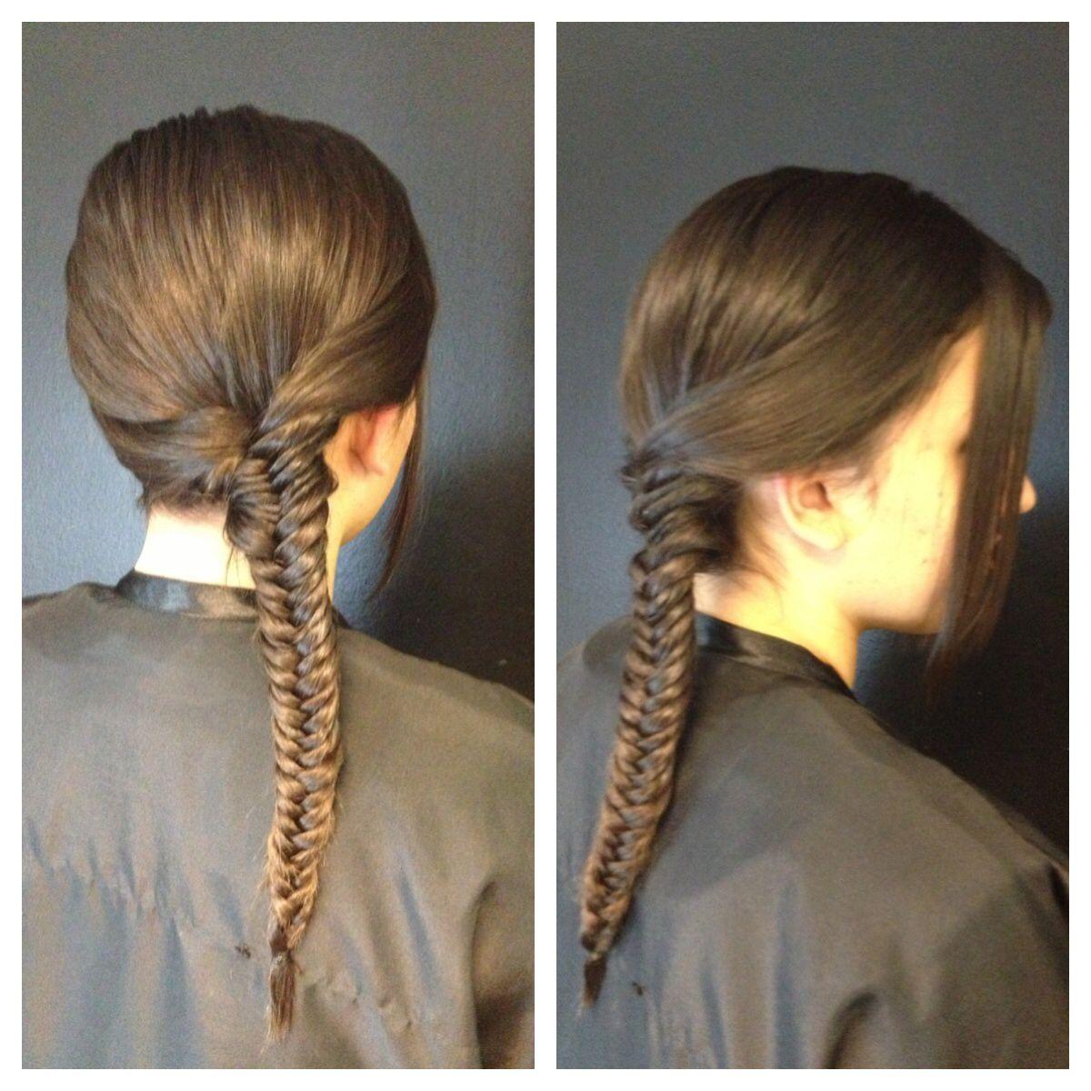 En una tendencia ascendente peinados hacia un lado Colección De Tutoriales De Color De Pelo - Trenza de espiga hacia un lado. | Trenza espiga, Peinados ...