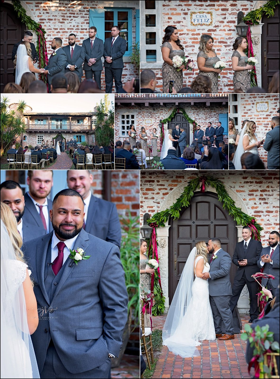 Wedding Ceremony In Front Of The Historical Casa Feliz A Venue Located Winter Park Florida Click To See More From This Vintage Inspired: Winter Wedding Venues In Florida At Reisefeber.org