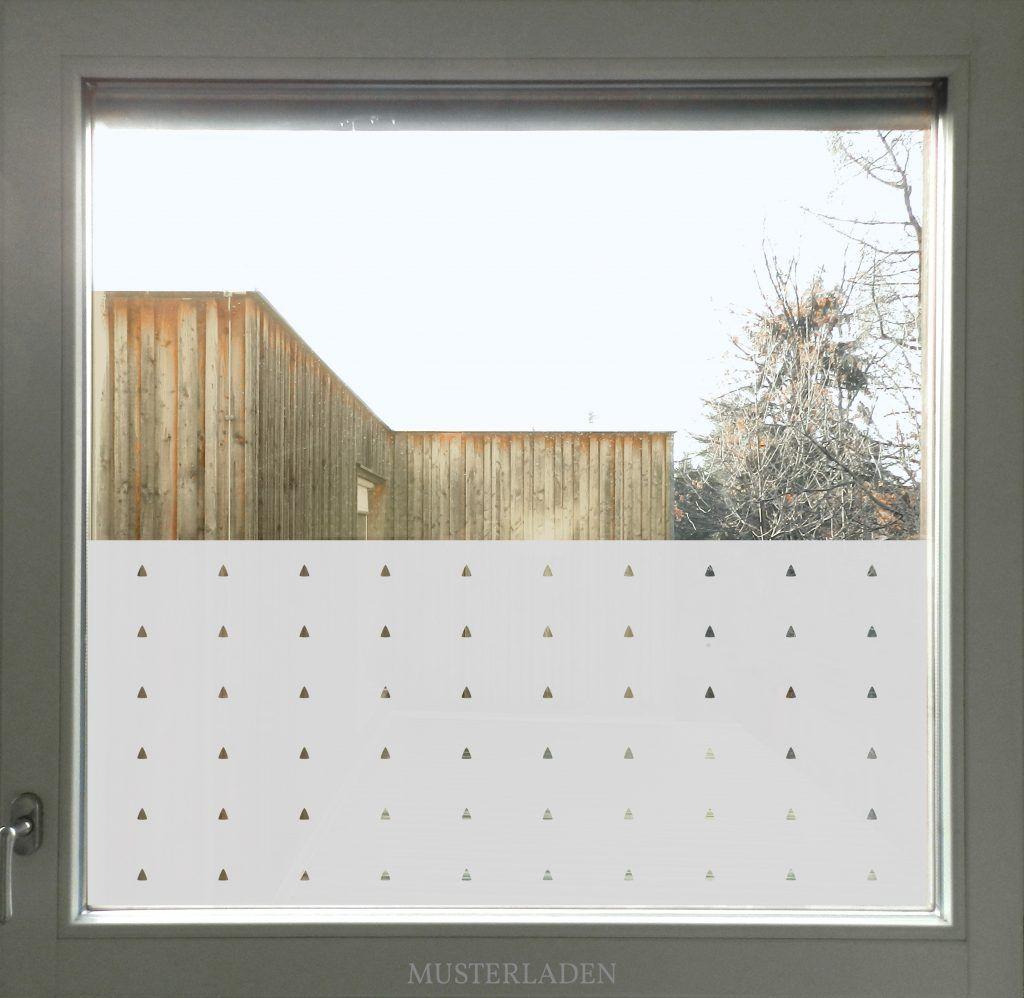 Fensterfolie Mit Dreiecken Von Musterladen Dekoration Und
