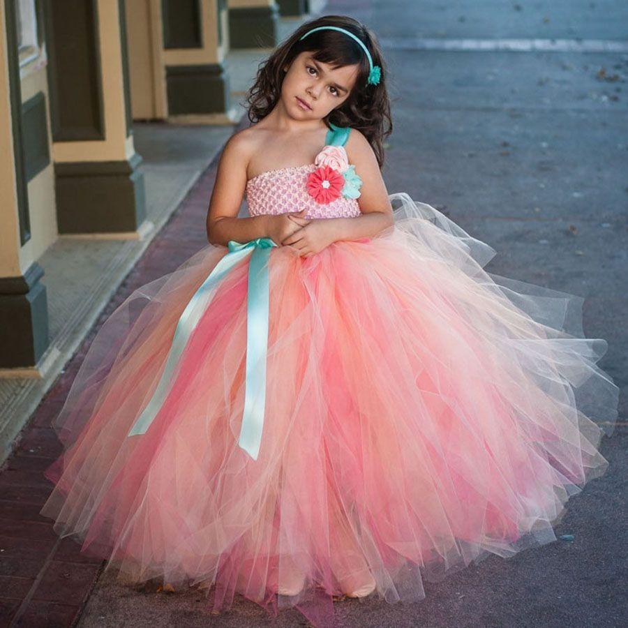 Lovely Flower Girls Tutu Dress Fluffy Wedding Dress Children ...