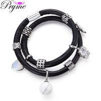 Pryme Interchangeable Copper Charms Bracelet 39CM Platinum Plated Slide Beads…