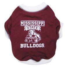 Mississippi State Bulldogs Pet T-Shirt