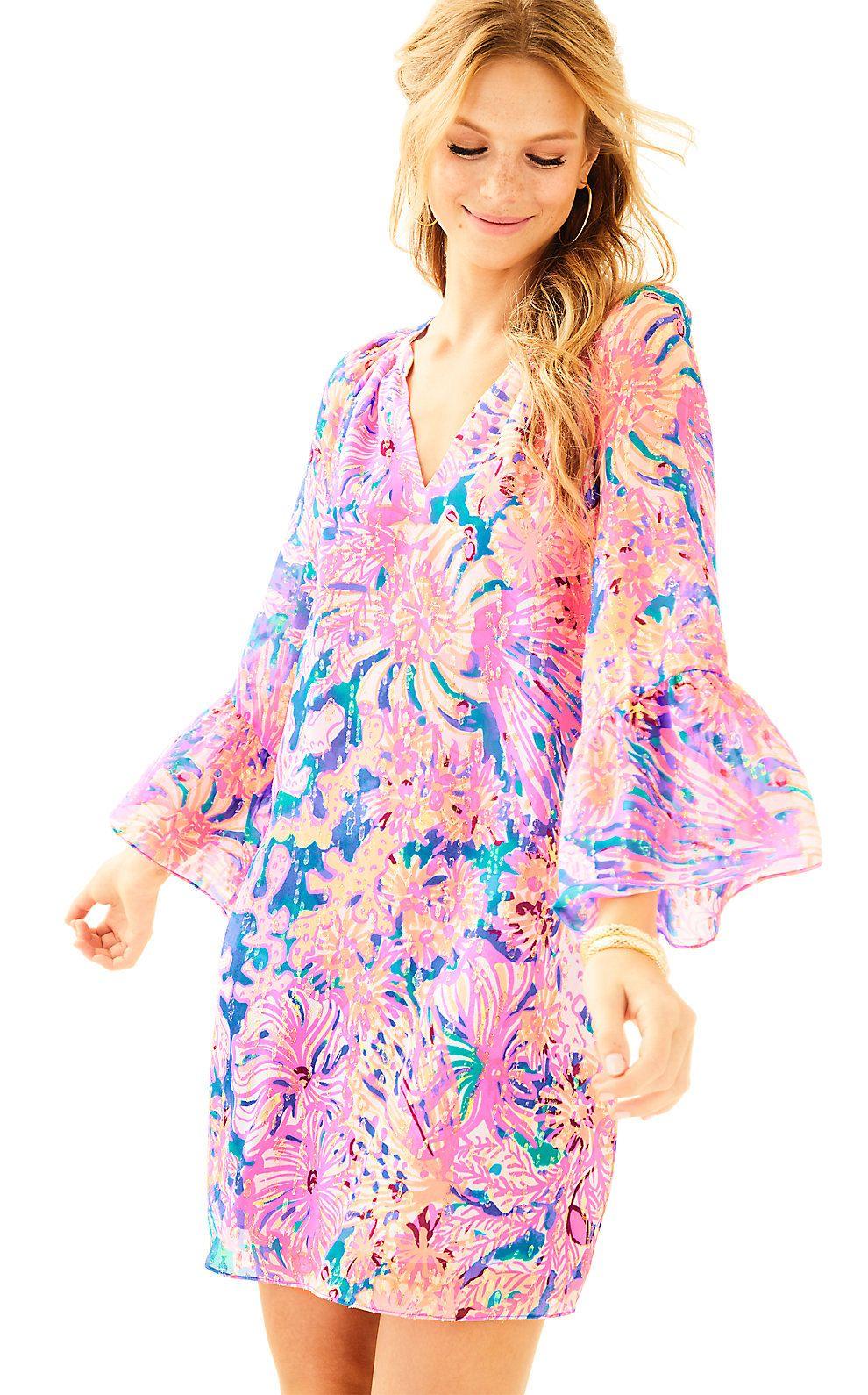 Lilly Pulitzer Womens Matilda Silk Tunic Dress