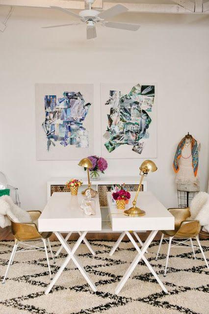 Un blog de decoración a mi manera...: Diez despachos donde trabajar es un placer...