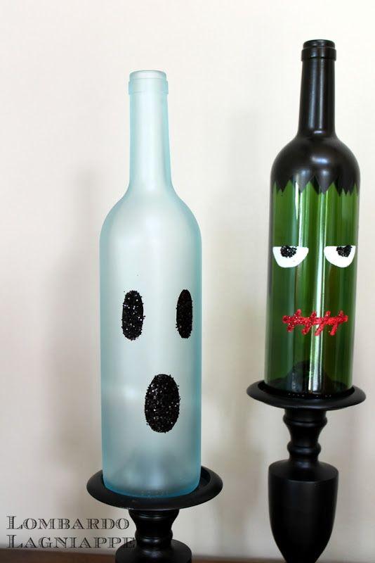 DIY Halloween Wine Bottles