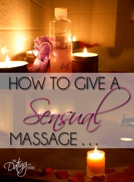 How to give sexy massages