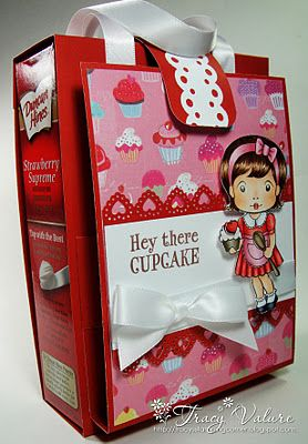 Cupcake Kit!  from Tracy's Stamping Corner by Tracy V. Cute idea for Valentines Day.