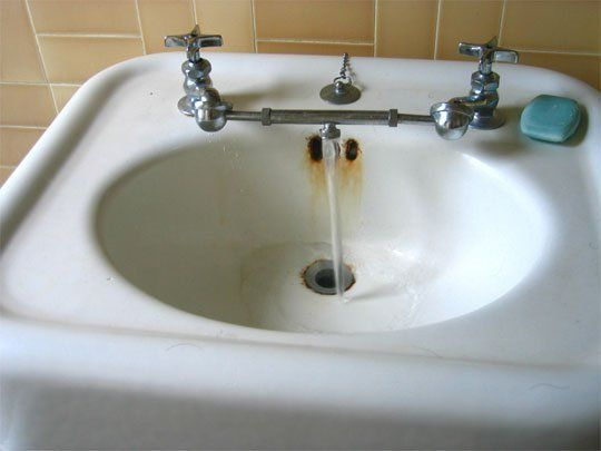 Look Combine Hot Cold Faucets On Old Sinks Old Sink Sink