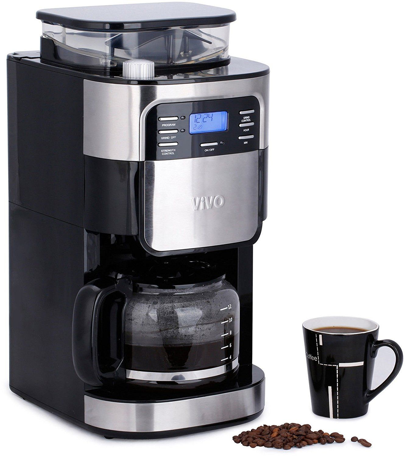 Enjoy Fresh Bean To Cup Ground Coffee Every Day And It S Ready Whenever You Are Thanks To Coffee Maker Machine Coffee Maker With Grinder Best Drip Coffee Maker