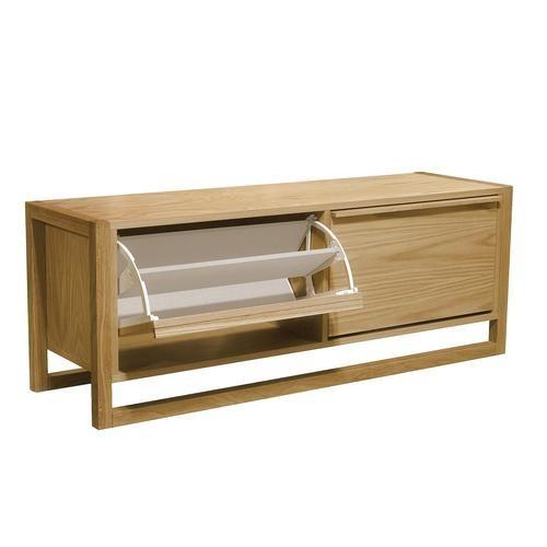 Photo of Scarpiera panca due porte New Est 120x38xh50 cm- peso 31 kg in legno colore legno di rovere | Woodman | Stilcasa.Net: scarpiere e portascarpe