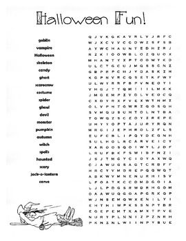 halloween word search puzzle halloween spelling words - Halloween Word Searches For Kids