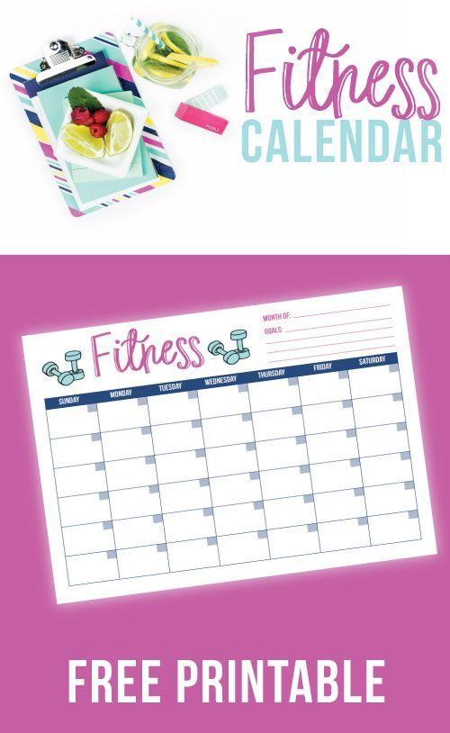 Free Printable Fitness Tracker I use this fitness calendar to - calendar tracker