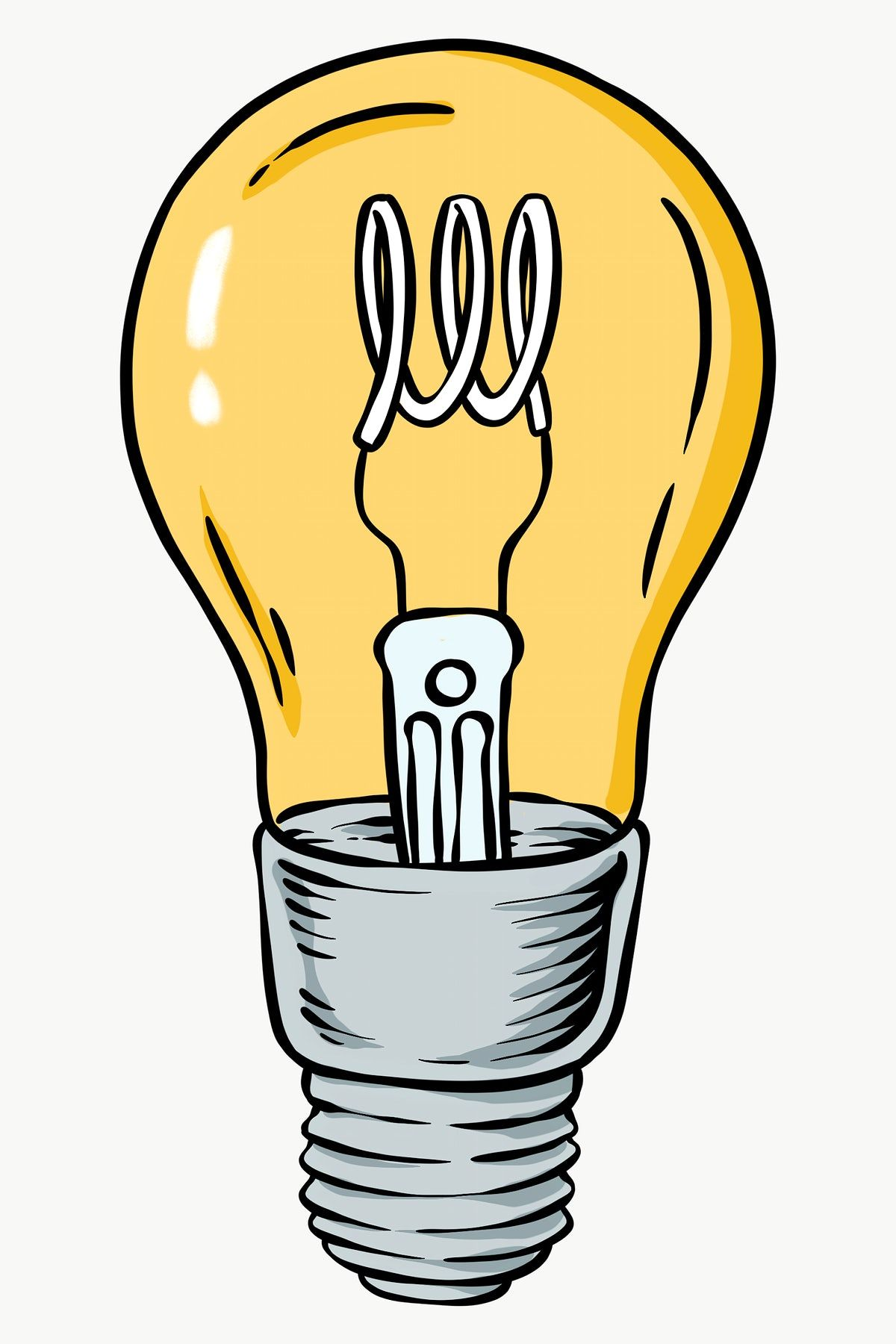 Hand Drawn Light Bulb Design Element Free Image By Rawpixel Com Noon In 2020 Light Bulb Design Design Element How To Draw Hands
