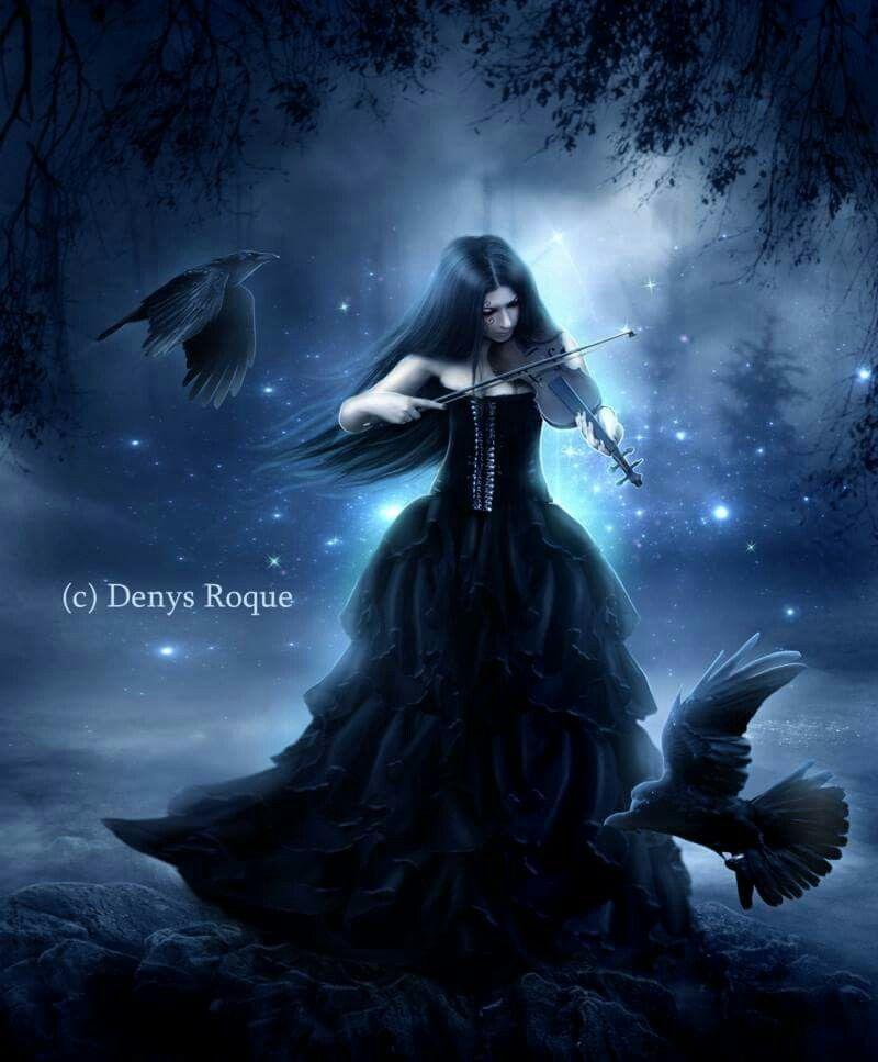 Pin Ante Belle Rune Gothic Fantasy Art
