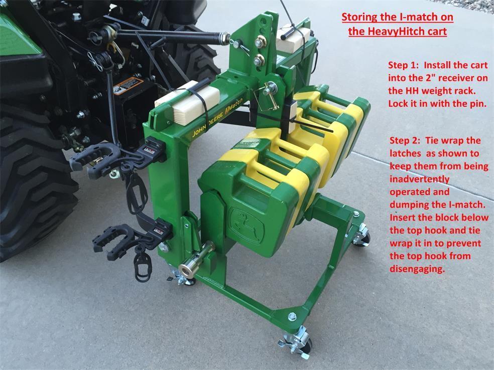 Tractor skidsteer loader grab bucket hooks Green John Deere bolt on made USA