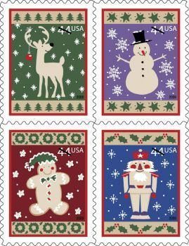 Usps Christmas Stamps.Once Upon A Time Christmas Usps Stamps 635 Pieces 5 My