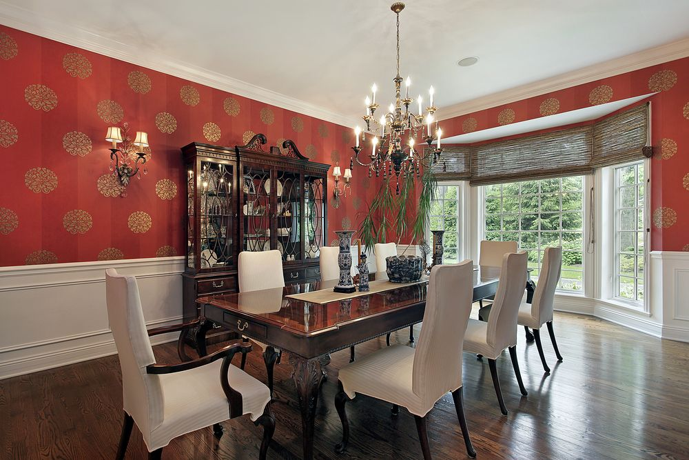 Wallpaper For Dining Room Ideas Part - 31: 60 Red Room Design Ideas (All Rooms - Photo Gallery)