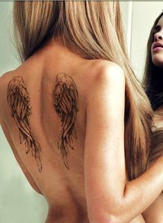 169156ff633c8 beautiful angel wings tattoo | reflections | Tattoos, Wing tattoos ...