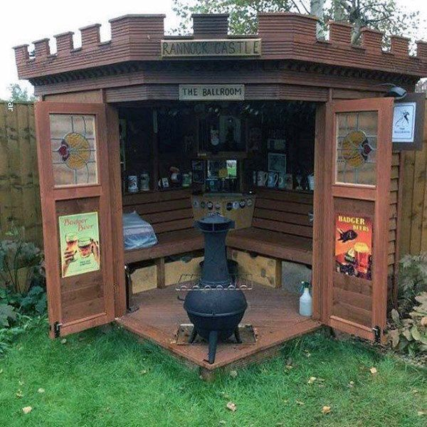 50 Pub Shed Bar Ideas For Men - Cool Backyard Retreat ...
