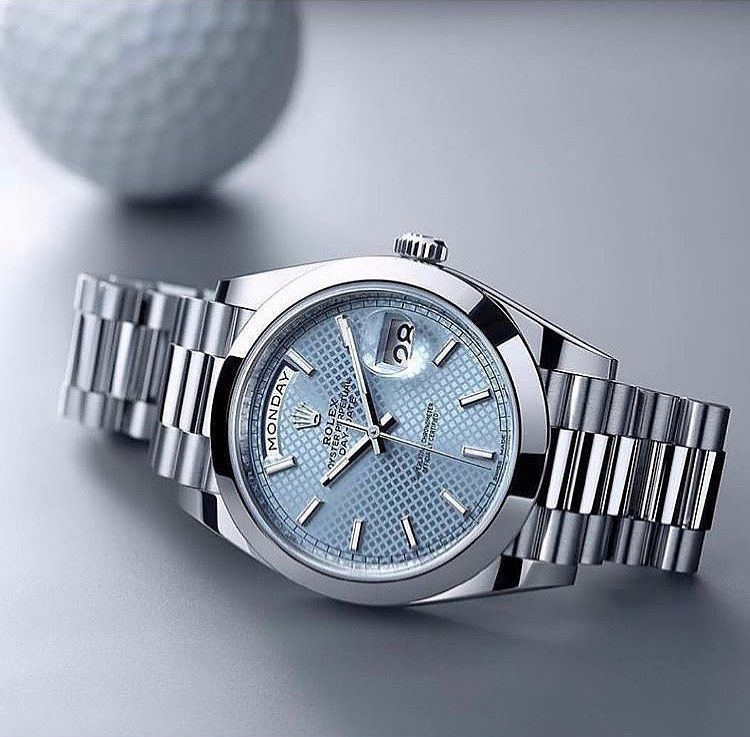 Rolex Oyster Perpetual Day Date. Beautiful, stylish, stable in value. A lifetime companion. #rolexwatches
