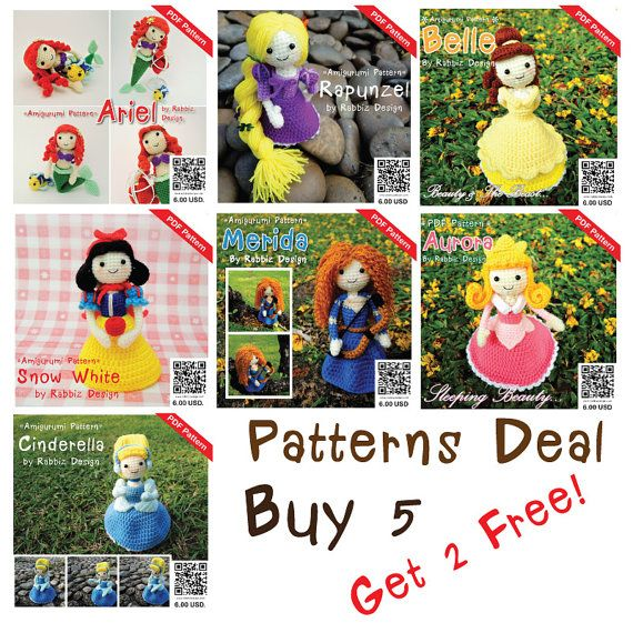 Pattern+Deal++Princesses+Set+Buy+5+Get+2+Free+by+rabbizdesign