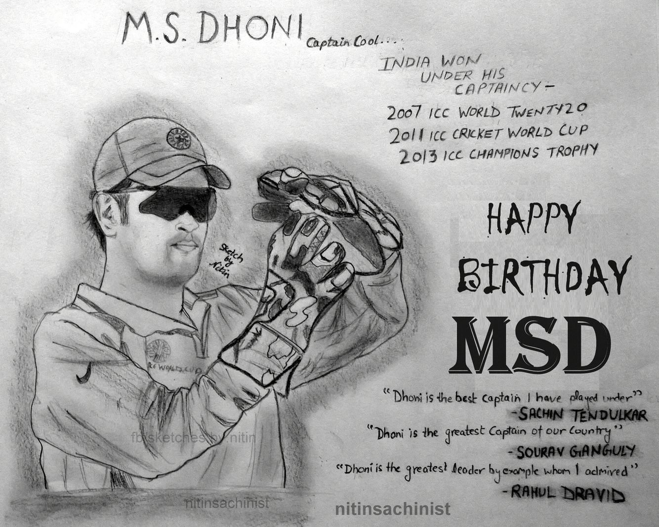 Happy Birthday Msd India Win Cricket World Cup World Cup