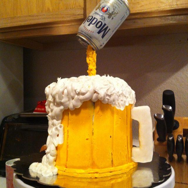 beer Birthday Cakes for Men beer cakes Pinterest Beer
