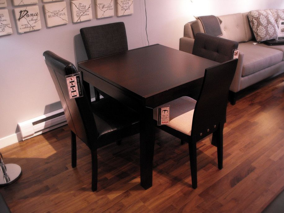Compact Small Square Dining Table With Colorful Decoration