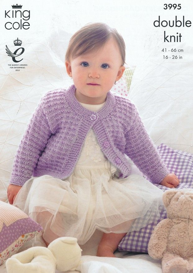 Children\'s Cardigans in King Cole Baby Glitz DK (3995) | King Cole ...