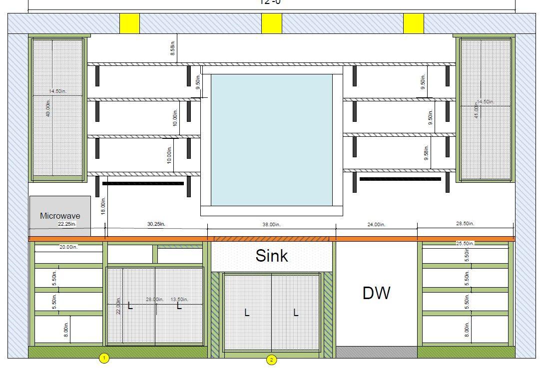 Open Kitchen Shelves In Front Of A Window 5k Kitchen Remodel Beach House Edition Kitchen Floor Plans Kitchen Layout One Wall Kitchen