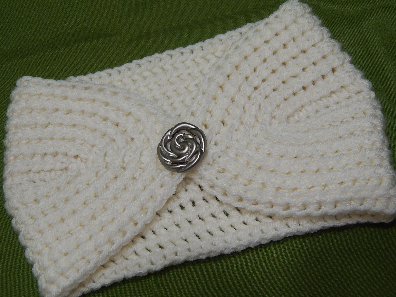 Banda tejida con estambre en 7 vueltas muy facil este - Diademas de ganchillo ...