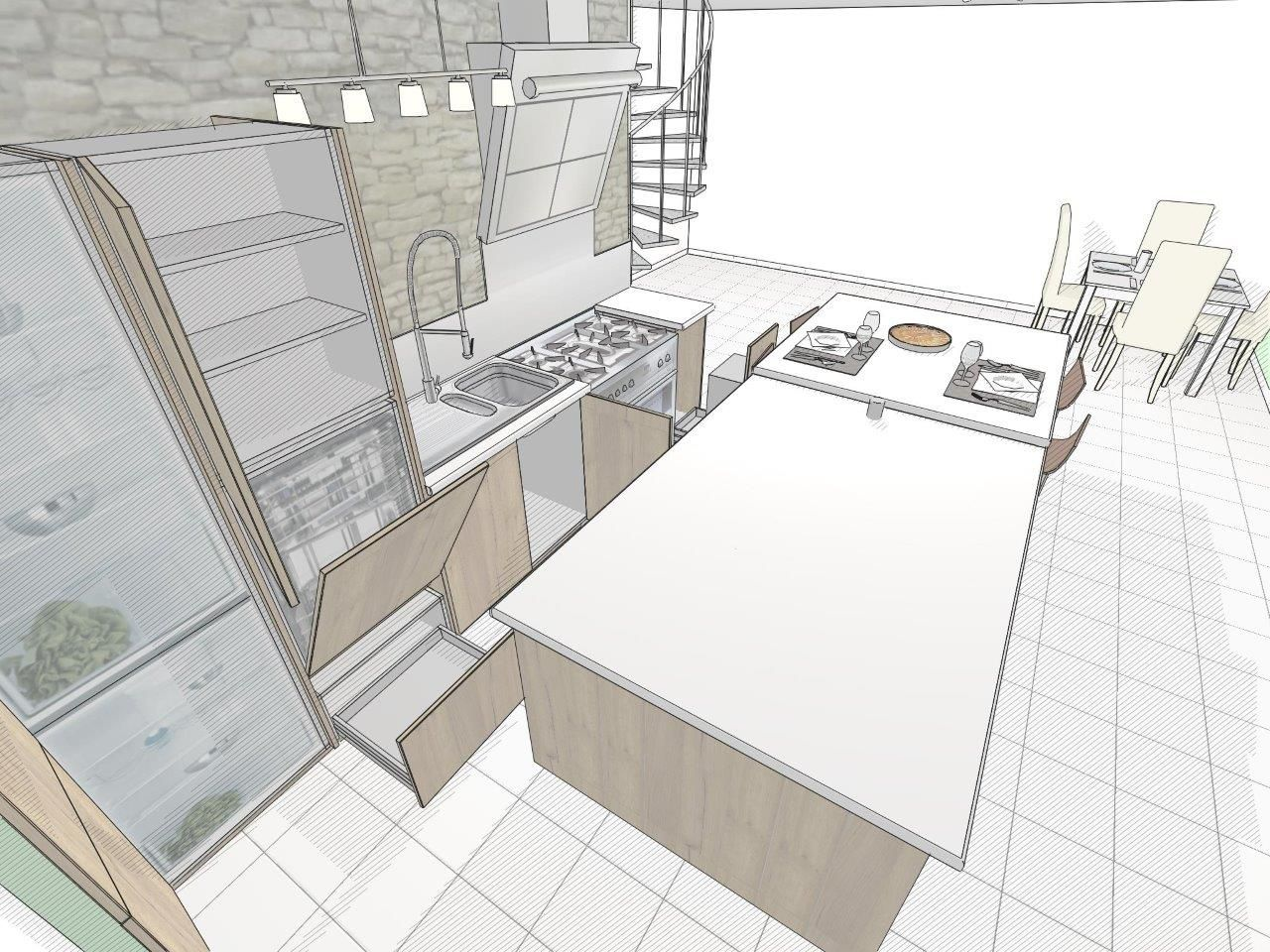 Logiciel Pour Conception Cuisine galerie | cuisine dessin, design, architecte
