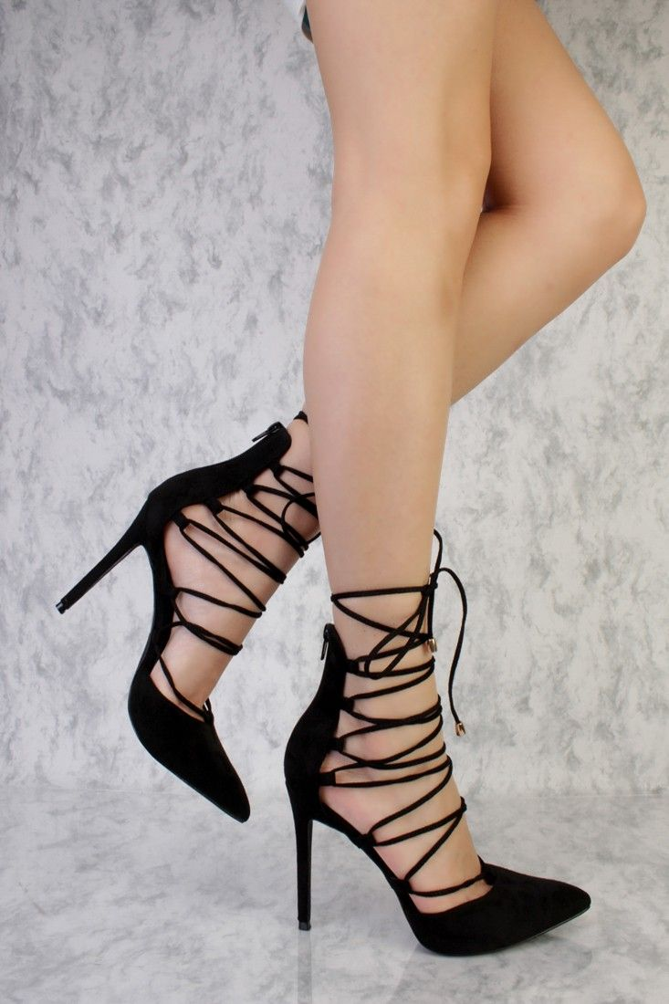 59a372d2e These sexy and stylish single sole high heels are a must have this season!  The features include a suede upper with a pointed closed toe