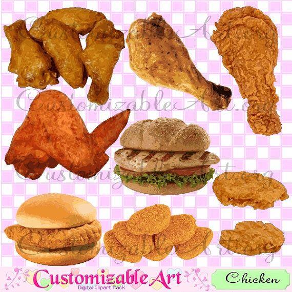 chicken clipart digital fried chicken clip art chicken