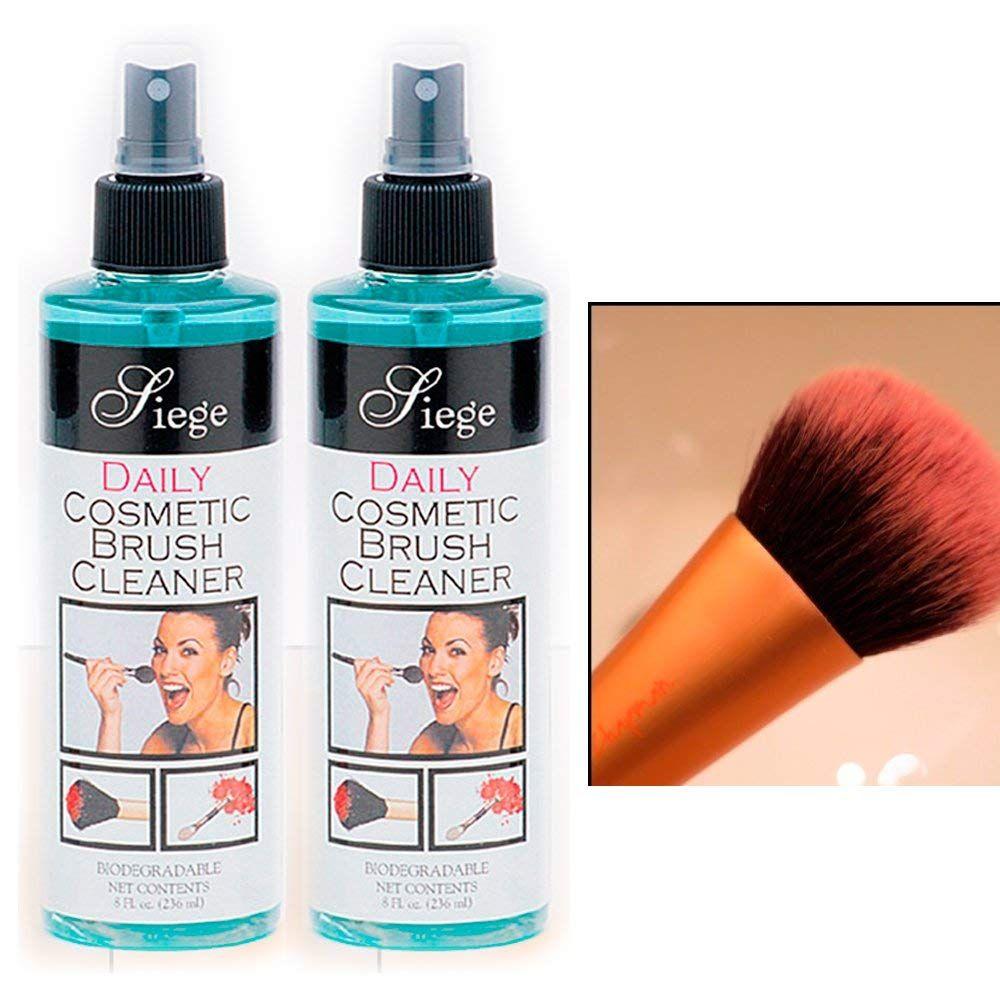 2 Bottles Cosmetic Brush Spray Cleaner Make Up