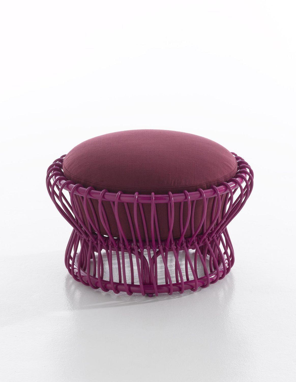 Pouf contemporain / en rotin TAIKO by Tomoko Mizu Bonacina ...