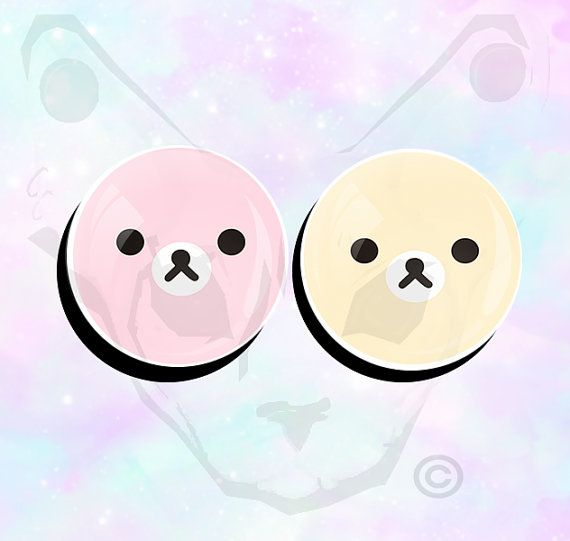 Big+Size+Pair+Pastel+Rilakkuma+Super+Cute+Ear+Plugs+by+SuckMyPlug