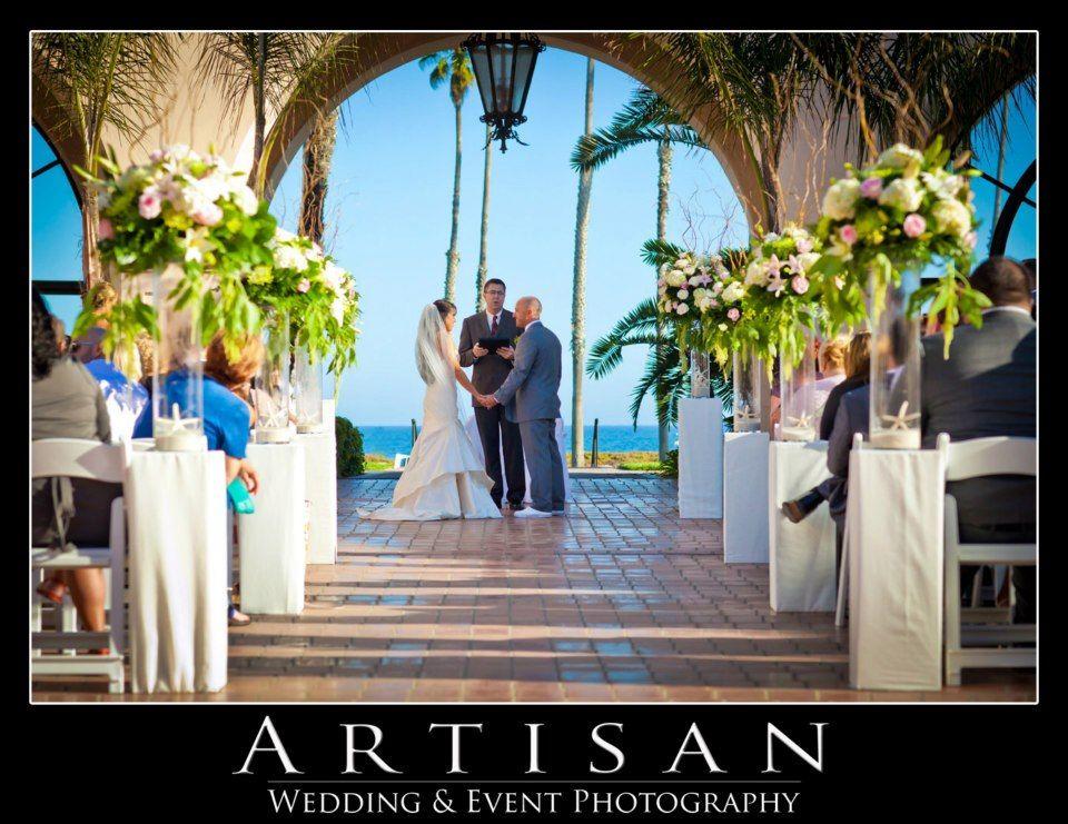 Wedding at Fess Parker Santa Barbara, Ca. Flowers by House