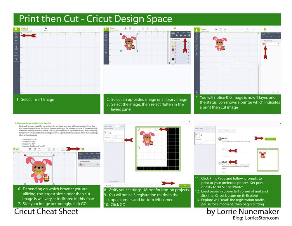 I have created a series of Cricut Cheat Sheets The Cheat Sheets - project status sheet