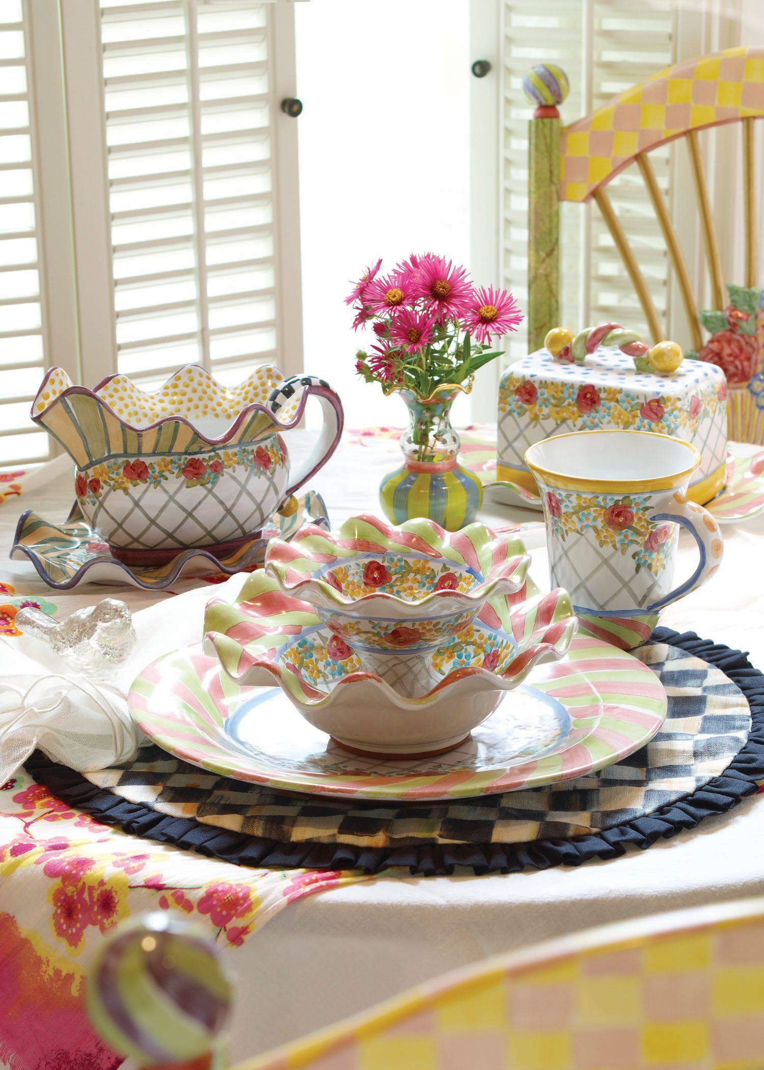 Glen Park majolica dinnerware, handmade in Aurora and ...