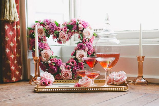 8 Cheap Cheerful Hen Party At Home Ideas Onefabday Com Valentines Day Weddings Floral Wedding Decorations Wedding Inspiration